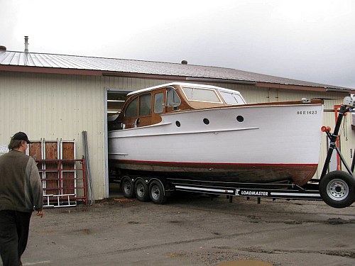 Chris Craft at Brackley's shop