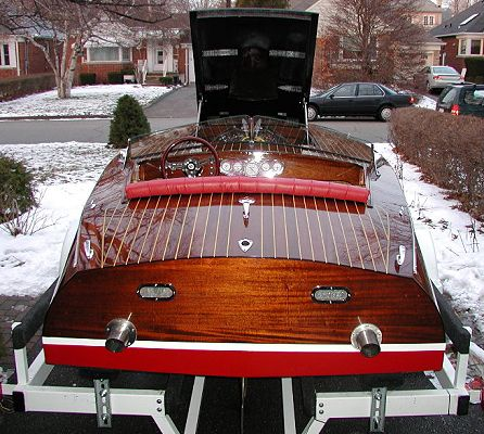 Wooden Race Boat