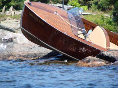 Boat crash