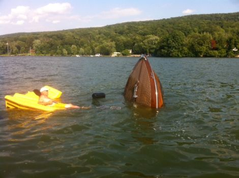 sinking Greavette-2 | Port Carling Boats - Antique & Classic Wooden Boats for Sale