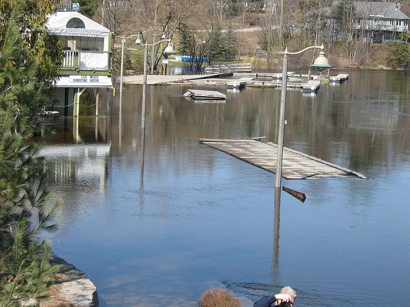 Flooding in Huntsville and Port Carling, Muskoka, April 2013