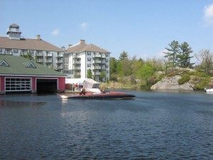 "Miss Canada IV prepares for ""lift-off""  in Gravenhurst Bay, May, 2013"