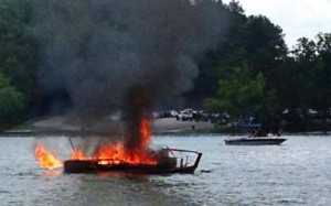 Chris-Craft Explosion and fire