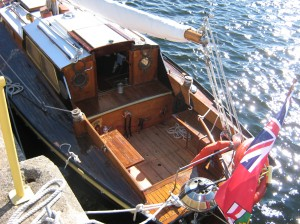 Sailboat restoration, Parry Sound