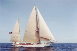 Radiance under sail