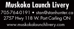 Muskoka Launch Livery Ad