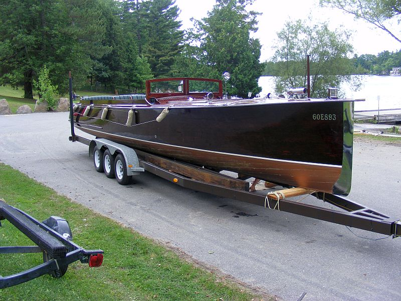 Ncneil norris long deck launch for sale port carling for Norris craft boats for sale