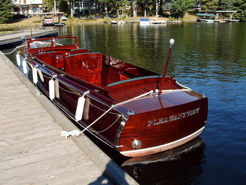 Wooden Long Deck Launch For Sale Port Carling Boats