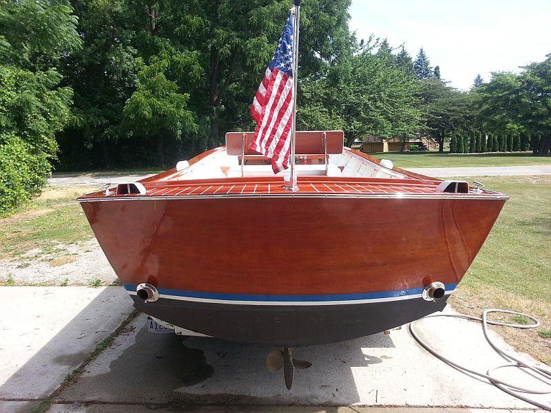 Chris craft dory port carling boats antique classic for Classic chris craft wooden boats