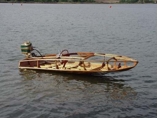 Skeleton boat