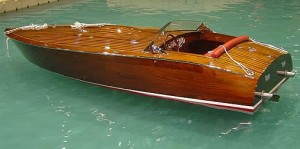 Wooden Race Boat