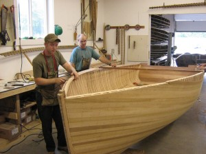 "The Giesler cedar-strip ""Georgian Bay"" model wooden boat"