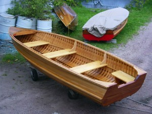 The West Arm model Cedar strip Giesler runabout