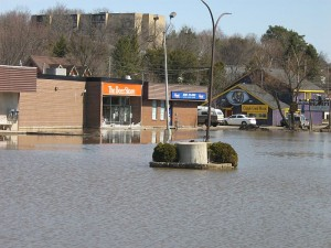 Flooded beer store