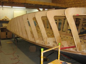 Blackbird boat under construction-1