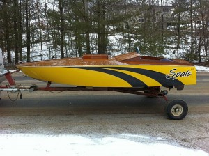 """Spatz"" a 12 ft. GLen-L Race Boat"