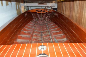 Restored Chris-Craft ready for reassembly