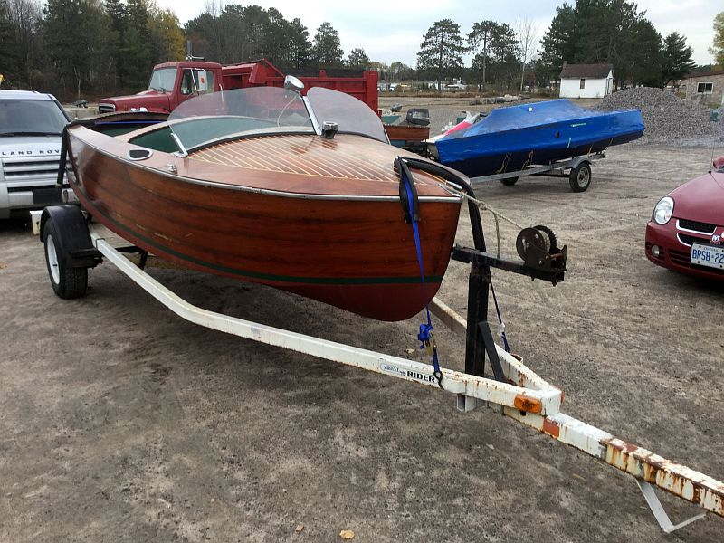 This Post Features A Wooden Greavette Runabout For Sale 6500