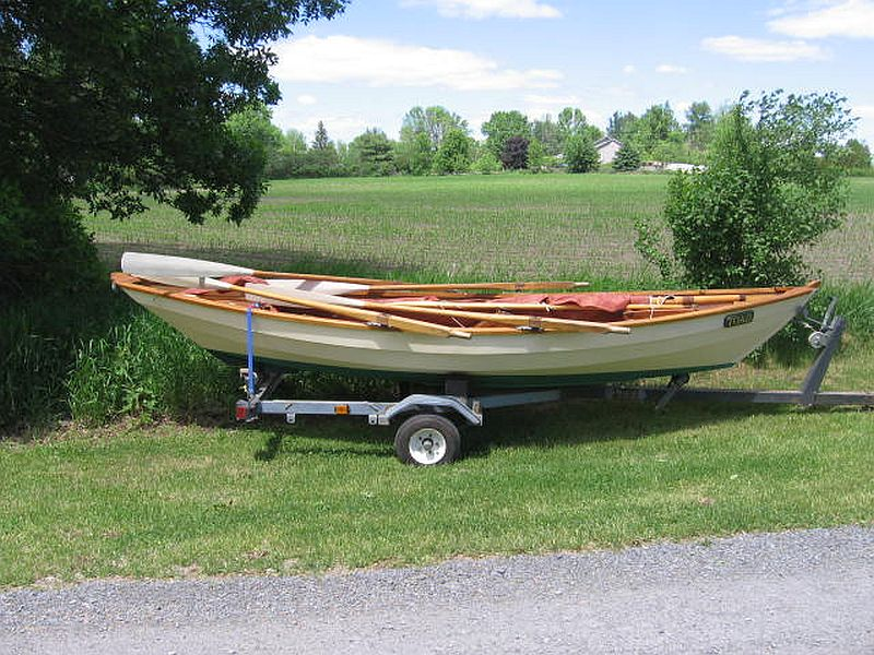 Antique Sailing Dory: 16 ft.