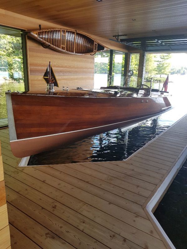 Minett Shields long deck launch; 26'