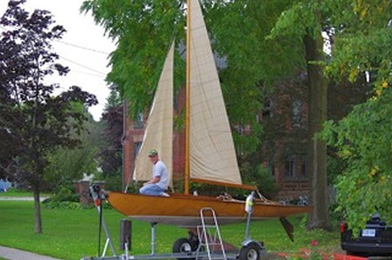 Uffa Fox racing sailboat